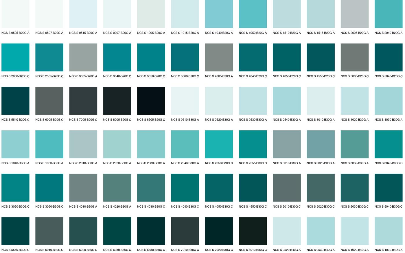Сине-зеленые цвета 1