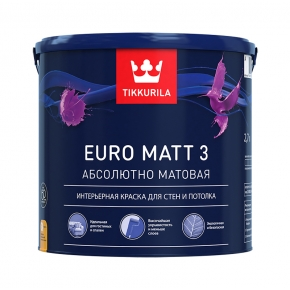 Краска Tikkurila Euro Matt 3 2,7 л A