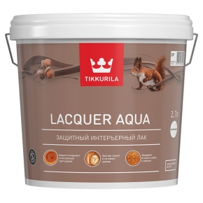 Интерьерный акрилатный лак Lacquer Aqua 2.7 л (полуглянцевый)