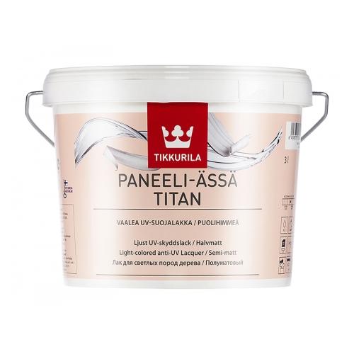 Интерьерный лак  для светлых пород дерева Paneeli-Assa Titan бесцв п/мат 3 л